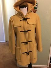 Ladies Vintage Wool Coat Size 32 Made in England Mustard Yellow