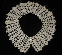 Dainty Edwardian Style Detachable Crocheted Ladies Peter Pan Collar Off White Sm