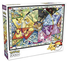 Pokemon Eevee's Stained Glass 2000 Piece Jigsaw Puzzle Buffalo Games