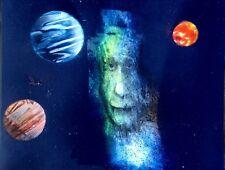 Albert Einstein. An Original Painting. By Roldán West.W/COA.