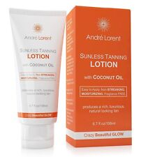 Andre Lorent Sunless Tanning Lotion W/ Coconut Oil Fragrance Free - 6.7 Fl Oz