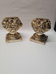 Antik Kerzenständer Kerzenhalter Messing Nachlass Art Deco Collection Abbott