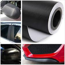 "20""x 50"" 3D BLACK Carbon Fiber Vinyl Film Sheet Car Sticker Phone Laptop Wrap"