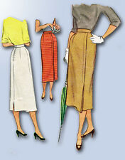 1950s Vintage McCall Sewing Pattern 8257 Easy Misses Slender Skirt Size 24 Waist