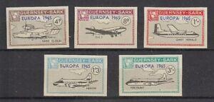 Cinderella   Guernsey Sark  Flugzeuge  geschnitten  -  5 Werte  **
