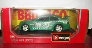 Burago 1993 BMW M3 Green Tic Tac Diecast Motorsport Car 1/24 NIB cod. 0544