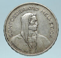 1932 Switzerland Founding HERO WILLIAM TELL 5 Francs Silver Swiss Coin i83243