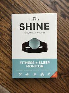 Misfit Shine Activity Fitness and Sleep Monitor, Topaz, NEW!