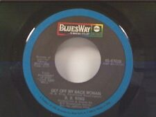 """B B KING """"GET OFF MY BACK WOMAN / I WANT YOU SO BAD"""" 45"""