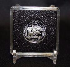 24mm Barber Quarter Coin Display 2x2 QUADRUM INTERCEPT Capsule Snap Case + Stand