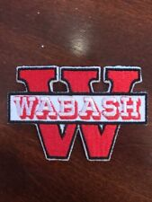"WABASH COLLEGE "" Little Giants "" Vintage Embroidered Iron On Patch 3"" X 2"""
