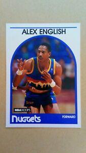1989-90 NBA Hoops #120 Alex English Denver Nuggets