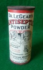Vintage Country Store Dr Le Gears Antiseptic Healing Powder Paper Tin Can