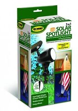 3 in 1 LED Spotlight Solar Powered Light Ideaworks Automatic Flashlight Flag