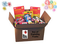 BOX OF EXPLODING PRANKS -  Fart Bomb Bags Pen Bang Toilet Jokes Pranks Gags Fun