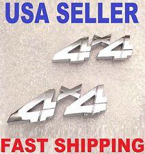 X2 Chrome 4 X 4 Emblem Logo Decal Badge Fender Side Rear Trunk Sign Universl Fit