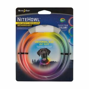 Nite Ize NiteHowl LED Safety Necklace Disc-O-Select Rechargeable Dog Collar