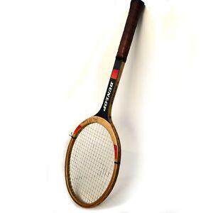 Vintage Dunlop John McEnroe Autograph Wooden Tennis Racquet Nice
