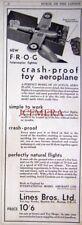 1932 LINES Bros FROG Crash-Proof Toy Aeroplane Ad: Original Tri-ang Print Advert