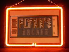 Flynn's Arcade Music Band DJ Audio Hub Bar Shop Advertising Neon Sign