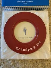 """New Pottery Barn Kids """"Grandpa & Me� Red Picture Frame~Birthday Special Occac"""