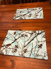 Blue Camo Hunting TrueTimber Country Cabin Kitchen Table Placemats