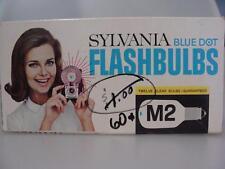 Sylvania Blue Dot Clear Flash Bulbs 12 Clear M2 Bulbs