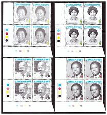 ZIMBABWE 2008 COMMEMORTIONS / HEROES 6TH SERIES SG1262 TO 1265 CONTROL BLOCKS