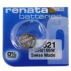 Renata Watch Battery 321 SR616SW Silver Oxide Button Cell 1 Pc