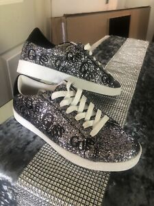 BRAND NEW Guess Silver Glitter Trainers - Size 4