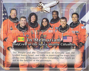 Grenada MNH Scott # 3332 S/S  Columbia Value $ 6.00  US $$