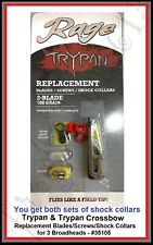 Rage Trypan & Trypan Crossbow Replacement Blades/Screws/Shock Collars - #35105