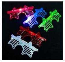100 PCS Light-Up Star Glasses LED Flashing Blinking Multicolor Shades Rave Party