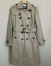 $97 XL Black Liz Claiborne New York Double Breasted Trench Coat