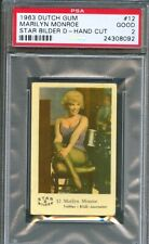 1963 Dutch Gum Card Star Bilder D #12 MARILYN MONROE Bus Stop Movie Scene PSA 2