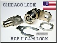"""HIGH-QUALITY CHICAGO LOCK UNIVERSAL ACE® CAM LOCK, TUBULAR, 1¼"""" DOUBLE-PUNCH CAM"""