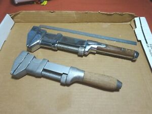 """2 ANTIQUE WRENCHES: Girard 10"""",  L. Coes Wrench Co 12"""" No Reserve"""