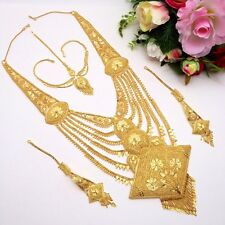 Indian Asian Bridal Jewellery Ethnic Wear 22ct Gold Plated RaniHaar Necklace Set