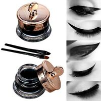 Impermeable Gel Delineador De Ojo + cepillo negro Lápiz ojos tatuaje Maquillaje