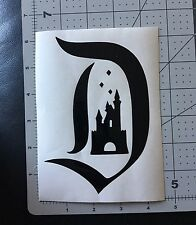 Disneyland Style D With Castle And Diamonds Inside Vinyl Decal for Cars,Windows