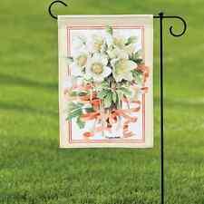 Winter Flowers Garden Banner Flag Marjolein Bastin Natures Journey # 15760