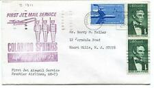 FFC 1967 First Jet Service AM-73 Colorado Springs Denver Frontier Airlines USA