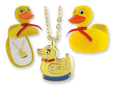 CHILD'S DUCK NECKLACE IN HINGED JEWELRY BOX (BN012)