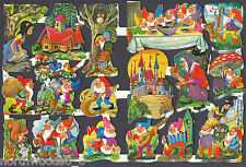SNOW WHITE VINTAGE DWARF WITCH FAIRYTALE SCRAP ENGLAND EMBOSSED PAPER COLLECT