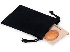 50 Pcs BLACK 3x4 Jewelry Pouches Velour Velvet Gift Bags