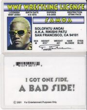 WWF Wrestling License Solofatu Anoai Rikishi Patu Drivers License FAKE ID