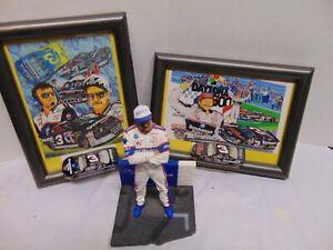 2004 Action Dale Earnhardt Sr. figurine w/ wall & frame photo & Die cast cars