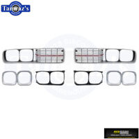 1973-1974 Charger SE Special Edition Front Grill Grille SET OER New