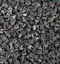 LEGO 1x1 PLATE WITH UP RIGHT HOLDER DARK STONE GREY LOT OF 200 PIECES