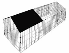 In Metallo Outdoor Pollo Coniglio Pet Piccolo Animale Cage Gabbia Recinto Corsa Neonati